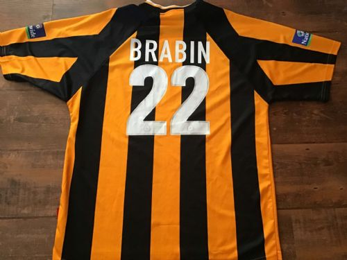 1999 2000 Hull City Brabin Home Football Shirt Large